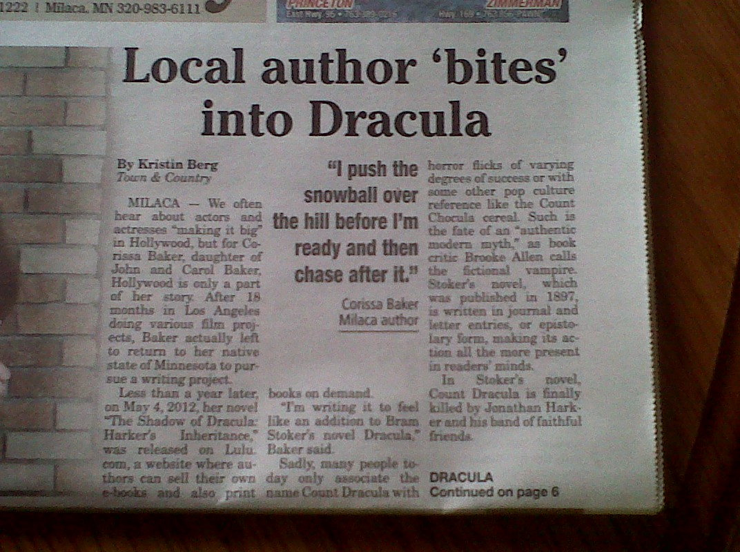 Front page news!